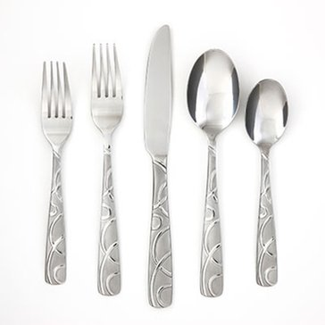 Cambridge Conquest Sand 45-Piece Flatware Set W/ Caddy