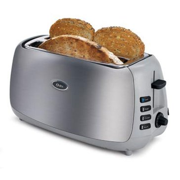Oster 4-Slice Long Slot Toaster, Brushed Stainless Steel (6330)