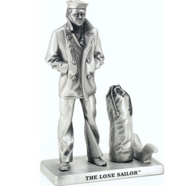 Sparta Pewter USN Lone Sailor With Bag Statue