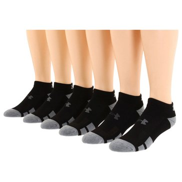 Under Armour Men's Low Cut Resistor 6-Pack Sock - White