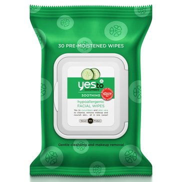 Yes To Cucumber Gentle Facial Towelettes 30-Count