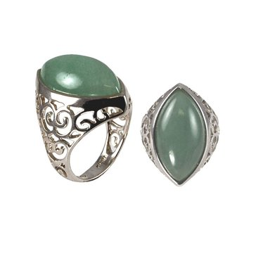 Sterling Silver Dyed Jade Ring