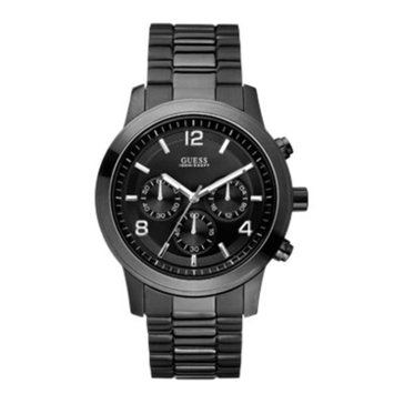 Guess Men's Chronograph Black Ion Plated Stainless Steel Watch, 38mm