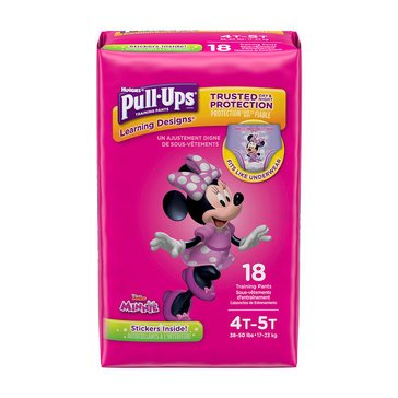 Pull Ups - Girls' Size 4T-5T, Jumbo Pack 18-Count