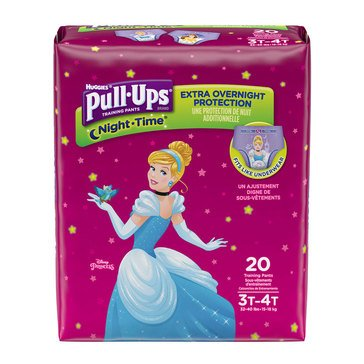 Pull Ups Nighttime - Girls' Size 3T-4T, Jumbo Pack 20-Count