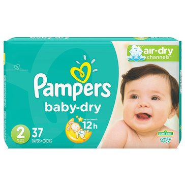 Pampers Baby-Dry Jumbo-Pack 37-Count Diapers, Size 2