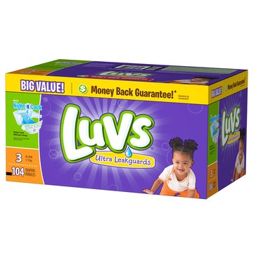 Luvs - Size 3, Big Pack 104-Count