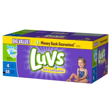 Luvs - Size 4, Big Pack 88-Count