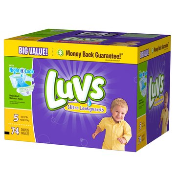 Luvs - Size 5, Big Pack 74-Count