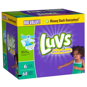Luvs - Size 6, Big Pack 64-Count