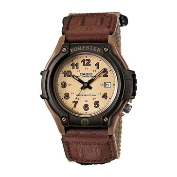 Casio Men's Forester Watch FT500WC-5BV, Tan/Brown