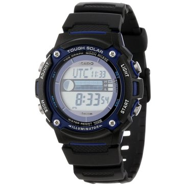 Casio Men's Tough Solar Tide & Moon Watch WS210H-1AV, Black