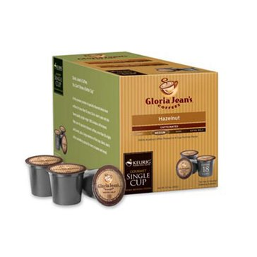 Gloria Jean's Coffee Hazelnut K-Cup Pods, 18-Count
