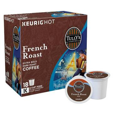 Tully's French Roast K-Cup Pods, 18-Count