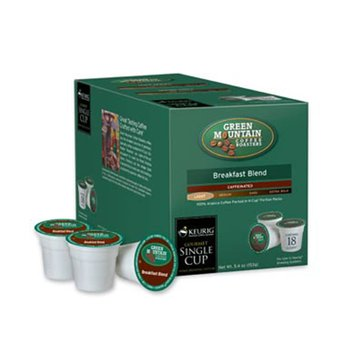 Green Mountain Coffee Breakfast Blend K-Cup Pods, 18-Count
