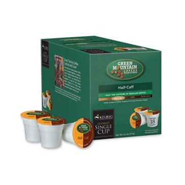 Green Mountain Coffee Half-Caff K-Cup Pods, 18-Count