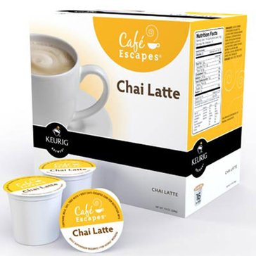 Cafe Escapes Chai Latte K-Cup Pods, 16-Count