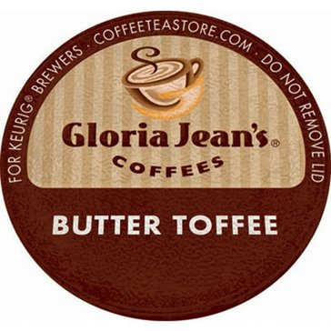 Gloria Jean's Coffee Butter Toffee K-Cup Pods, 18-Count