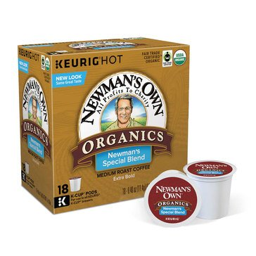 Newman's Own Organics Special Blend K-Cup Pods, 18-Count