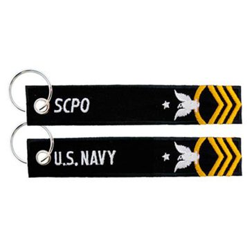 Eagle Crest US Navy SCPO Keychain