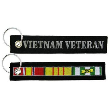 Eagle Crest USN Vietnam Vet with Ribbons Keychain