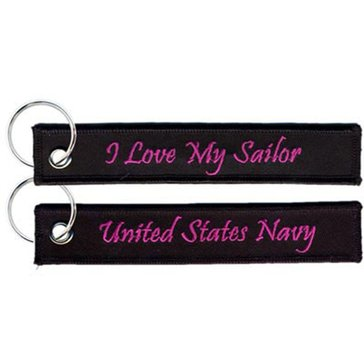 Eagle Crest USN I Love My Sailor Keychain