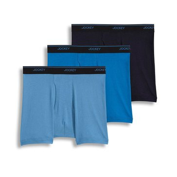Jockey Men's Stay Cool Plus Boxer Brief 3-Pack - Blue/Grey/Navy