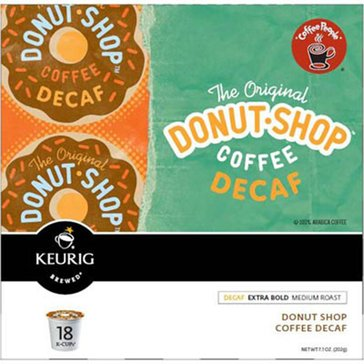 Coffee People Donut Shop Coffee Decaf K-Cup Pods, 18-Count