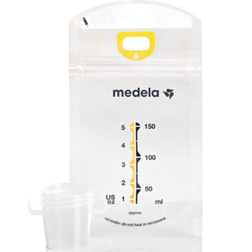 Medela Pump & Save Breastmilk Bags, 50-Count