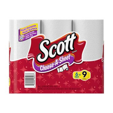 Scott Paper Towels, 6 Mega Rolls