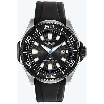 Citizen Men's Eco-Drive Black Poly Strap Dive Watch, 47mm
