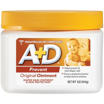A+D Original Diaper Rash Ointment Jar 16oz