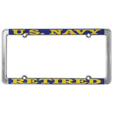 Mitchell Proffitt USN Retired License Plate Frame