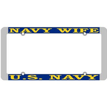 MP USN WIFE THIN LICENSE PLATE FRAME