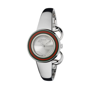 Gucci Women's U-Play Small Watch With Interchangeable Bracelet And Bezel 27mm