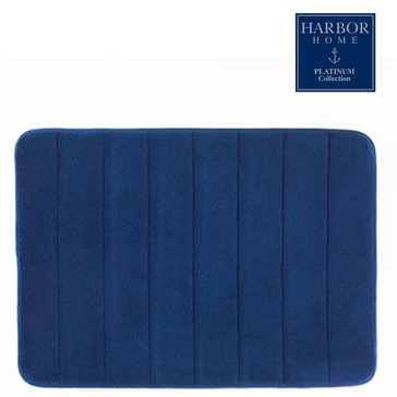 Platinum Collection 21x34 Bath Rug, Navy