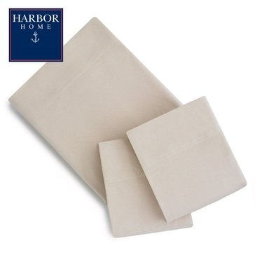 Harbor Home Flannel Sheet Set, Oatmeal - Twin