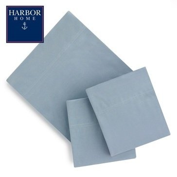 Harbor Home Flannel Sheet Set, Faded Indigo - King