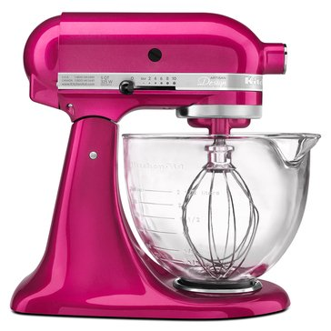KitchenAid Artisan Design Series 5-Quart Stand Mixer with Glass Bowl - Raspberry Ice (KSM155GBRI)