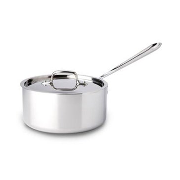 All-Clad Stainless Steel 3.5-Quart Sauce Pan W/ Lid
