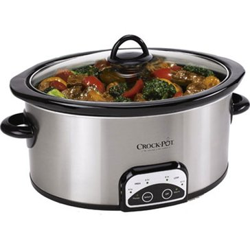 Crock-Pot Smart-Pot 6-Quart Slow Cooker, Brushed Stainless Steel (SCCPVP600-S)