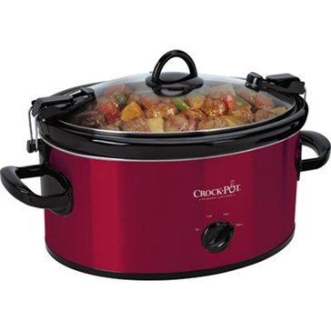 Crock-Pot Cook & Carry 6-Quart Manual Slow Cooker, Red (SCCPVL600-R)