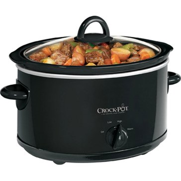 Crock-Pot 4-Quart Manual Slow Cooker, Black (SCV400-B-SL)