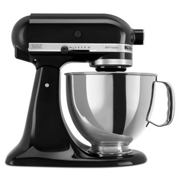 KitchenAid Artisan Series 5-Quart Tilt-Head Stand Mixer - Onyx Black (KSM150PSOB)