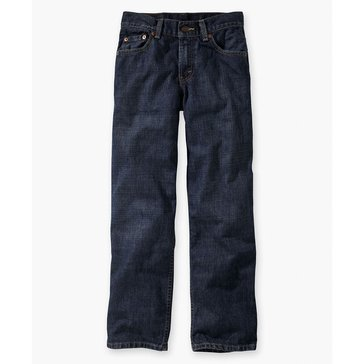 Levi's Big Boys' 550 Relaxed Jeans Dark Crosshatch, Size 14