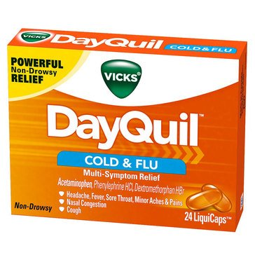 Vicks Dayquil Cold & Flu Multi-Symptom Relief 24ct