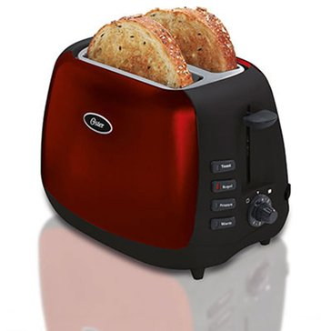 Oster 2-Slice Metallic Red Toaster (6595-0021)