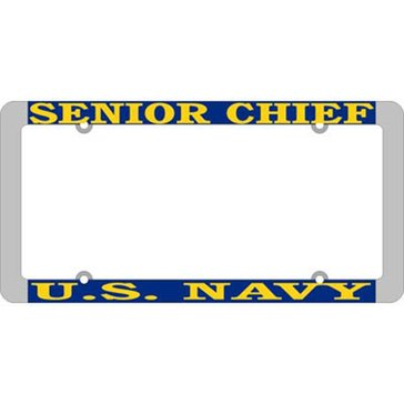 Mitchell Proffitt USN Senior Chief Thin Rim License Frame