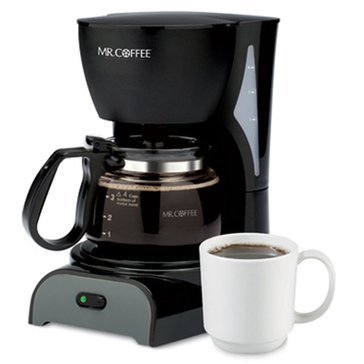 Mr. Coffee Simple Brew 4-Cup Switch Coffee Maker, Black (DR5-NP)