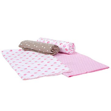 Gerber Baby Girls' 4-Pack Receiving Blankets